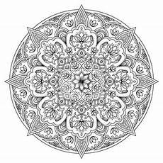 Arabische Muster Malvorlagen Bilder Mandala Rotes Schwarzes Und Wei 223 Es Orientalisches Muster