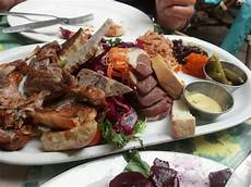 delicious food at restaurant lapin saute at city