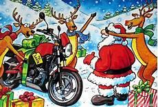 weihnachtsmann auf motorrad gif motoblogn santa rides a motorcycle card collection