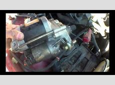 CLICKING Starter motor Replacement Honda Accord ?   YouTube
