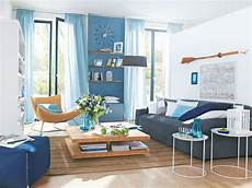 maritim wohnen blue white sky colors light interiors