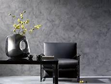 peinture effet beton enduit mineral pour mur salon couleur gris beton argile