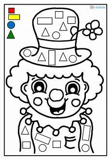 Zirkus Ausmalbilder Kindergarten Arbeitsbl 228 Tter Zirkus Clowns Ausschneiden Kleben Ausmalen
