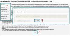 tidak dapat download sertifikat elektronik e faktur di