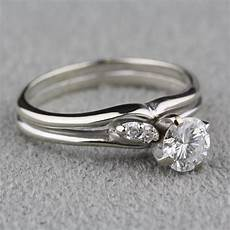 pre owned diamond engagement ring with 14 karat white gold