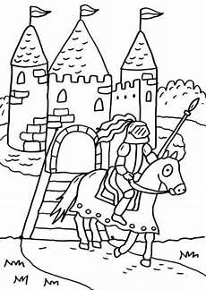 Malvorlagen Ritter Und Burgen Kostenlose Malvorlage Ritter Und Drachen Ritterburg Zum