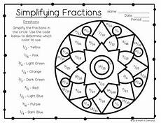 fraction worksheets colouring 3874 simplifying fractions coloring worksheet free by math in demand tpt
