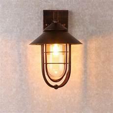 metal cage nautical indoor outdoor lantern sconce copper wall light ebay