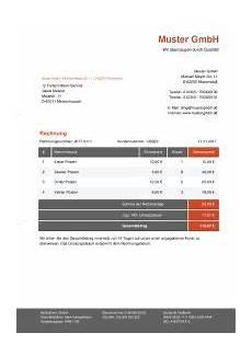 rechnungsvorlagen f 252 r word kostenlos