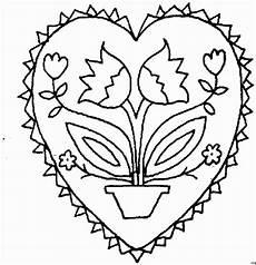 Ausmalbilder Sterne Herzen Herz Mit Topfblume Ausmalbild Malvorlage Gemischt