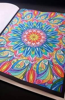 Malvorlagen Aquarell Stifte Mit Aquarell Stiften Ausgemaltes Mandala Aus Meinem