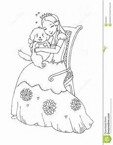 Ausmalbilder Prinzessin Hund Princess Coloring Page 9550355 Jpg 1009 215 1300