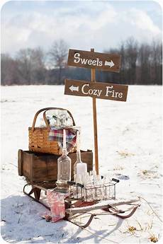 winterparty im garten rustic winter outdoor winter wunderland