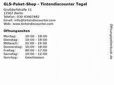 ᐅ 214 Ffnungszeiten Gls Paket Shop Tintendiscounter Tegel