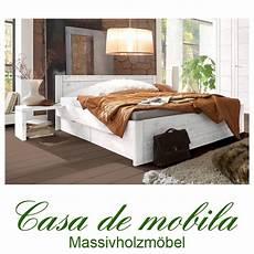 Bett Weiß 200x200 - massivholz schubladenbett kiefer massiv funktionsbett bett