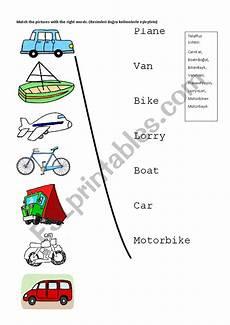 worksheets on vehicles 15217 vehicles esl worksheet by dcekmez
