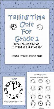 time measurement worksheets for grade 2 1615 telling time unit for grade 2 ontario curriculum math school teaching math math classroom