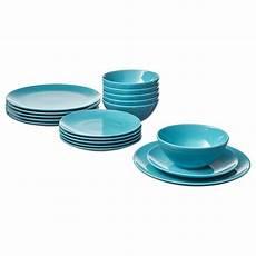 F 196 Rgrik 18 Dinnerware Set Turquoise Ikea