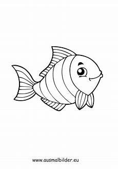 ausmalbild gestreifter fisch zum ausdrucken