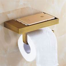 Toilet Paper Shelf Holder Wall Mounted by Antique Brass Brushed Toilet Paper Holder And Hook Roll