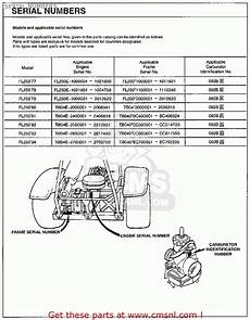 Suzuki Parts Lookup by Honda Fl250 Odyssey 1977 Usa Serial Numbers Schematic