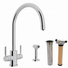 kitchen faucet with built in water filter rohl integrated kitchen faucet with swiss water filter perrin rowe seachange oceana