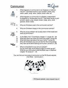 communion worksheet for 2nd grade lesson planet