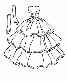 Ausmalbild Prinzessin Kleid Ausmalbilder Kleidung 45 Hochzeit Malvorlagen