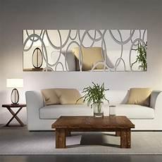 mirror wall decor for living room acrylic mirror wall decor 3d diy wall stickers living