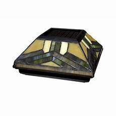 6 in 6 in solar powered stained glass cap 511 0014 the home depot