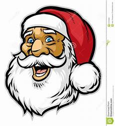 Malvorlage Weihnachtsmann Kopf Netter Weihnachtsmann Kopf Vektor Abbildung Illustration
