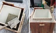 wassertrog aus beton selber machen blumentopf aus beton selber machen pflanzk 252 bel beton