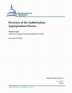 history worksheets 20371 overview of the authorization appropriations process everycrsreport