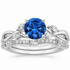 blue sapphire wedding ring 1 80 ct blue sapphire diamond engagement ring with band solid 14 kt white gold ebay