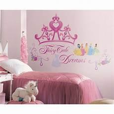 Disney Princess Crown Wall Mural Stickers Pink Tiara
