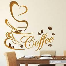wandtattoo kaffee tasse herz mit spruch coffee cafe