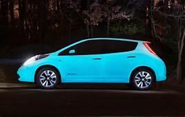 This Nissan Leaf Glows In The Dark  Inhabitat Green