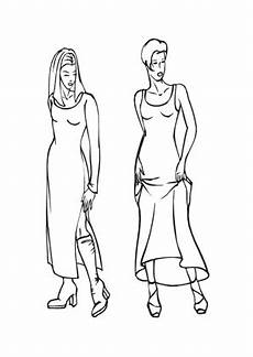 Topmodel Malvorlagen Pdf Ausmalbilder Zwei Topmodels Models Malvorlagen