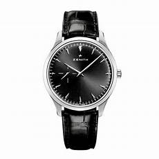 ultra thin black zenith elite ultra thin black dial watch at o r leeds