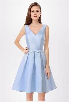 robe cocktail courte bretelles bleu ciel