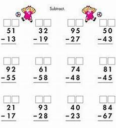 free math printable 2 digit subtraction with regrouping