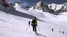 discesa in sci della valle 232 blanche courmayeur monte