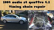 2004 audi s4 4 2l timing chain replacement youtube