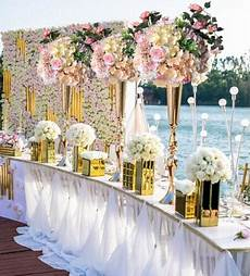 elegant metal 88 cm tall sparking gold wedding flower vase