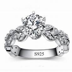 real 925 sterling silver ring anel aneis de diamante cz