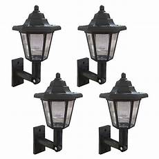 wall mounted outdoor solar light led solar power wall mounted lantern l sun lights garden outdoor black ebay