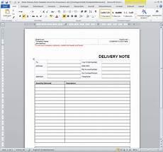 lieferschein vorlage f 252 r office word kostenlos