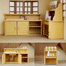 Dollhouse Kitchen Furniture Cabinets Plastic Kitchen Miniature Dollhouse Furniture