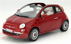 fiat 500 cabrio 1 18 scale large diecast model car die