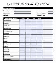 employee evaluation form pdf employee evaluation form 17 download free evaluation